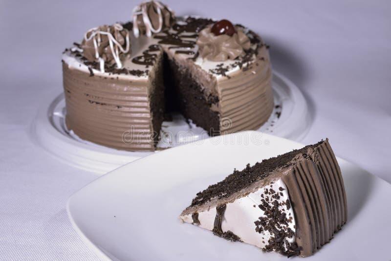 传统巧克力蛋糕 库存照片