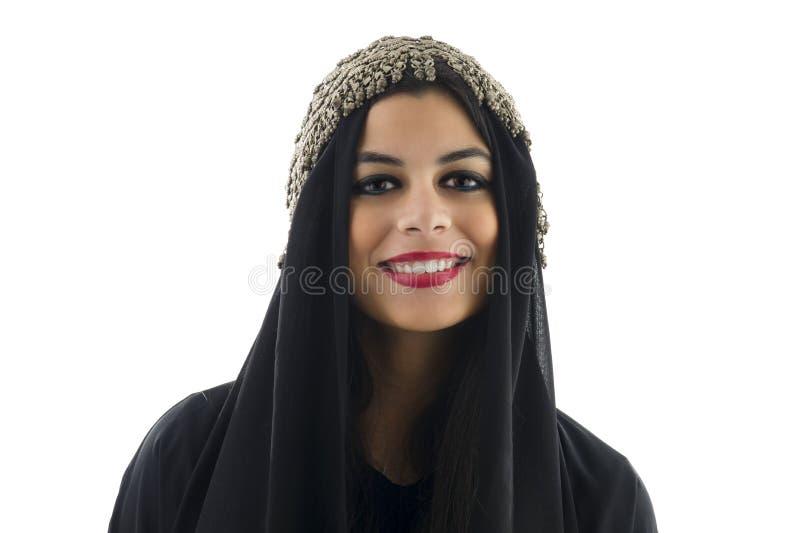 头戴传统头巾的阿拉伯女孩 库存图片