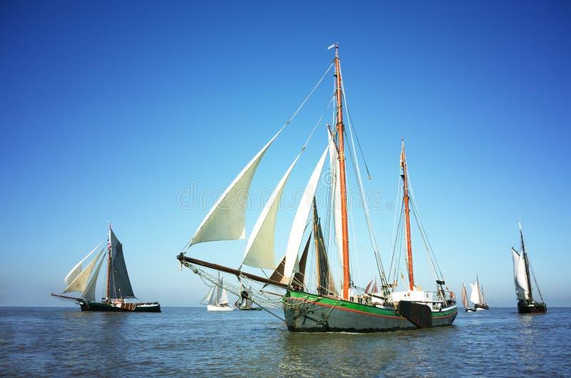 传统帆船很多  免版税库存照片