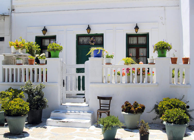 传统希腊的房子 库存照片