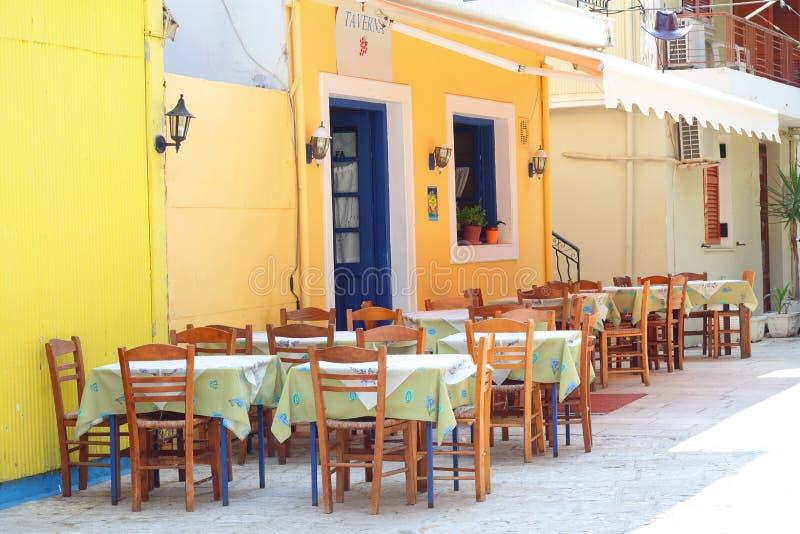 传统希腊的taverna 免版税库存图片