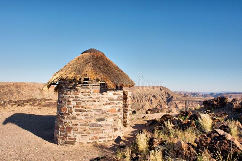传统房子在沙漠 库存照片