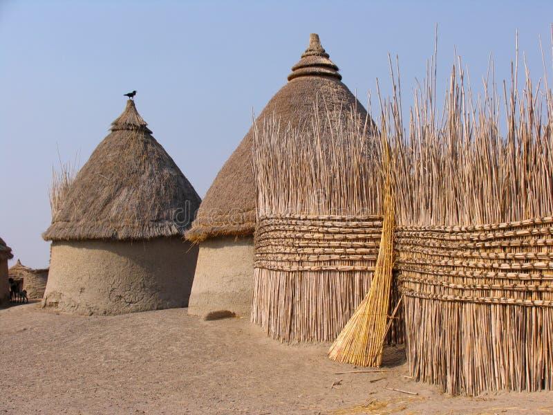 传统房子在非洲 免版税图库摄影