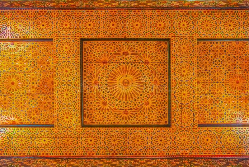 传统摩洛哥人carbed天花板 免版税库存照片