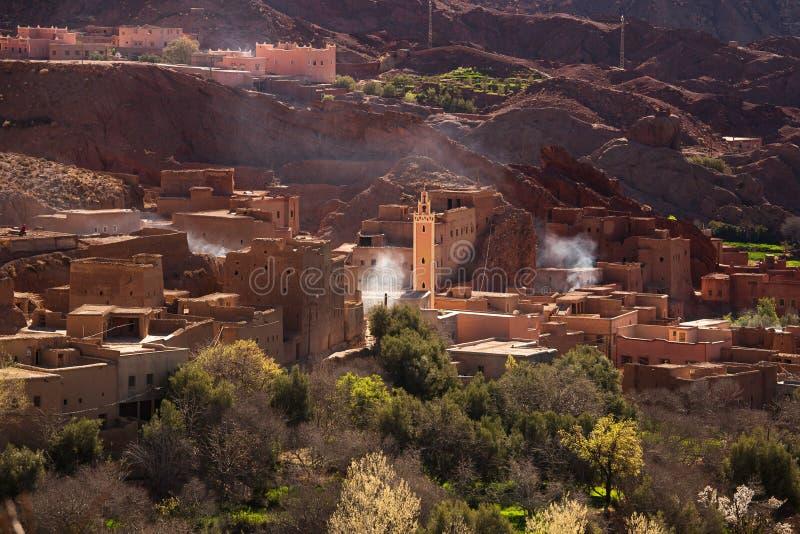 传统摩洛哥村庄 库存图片