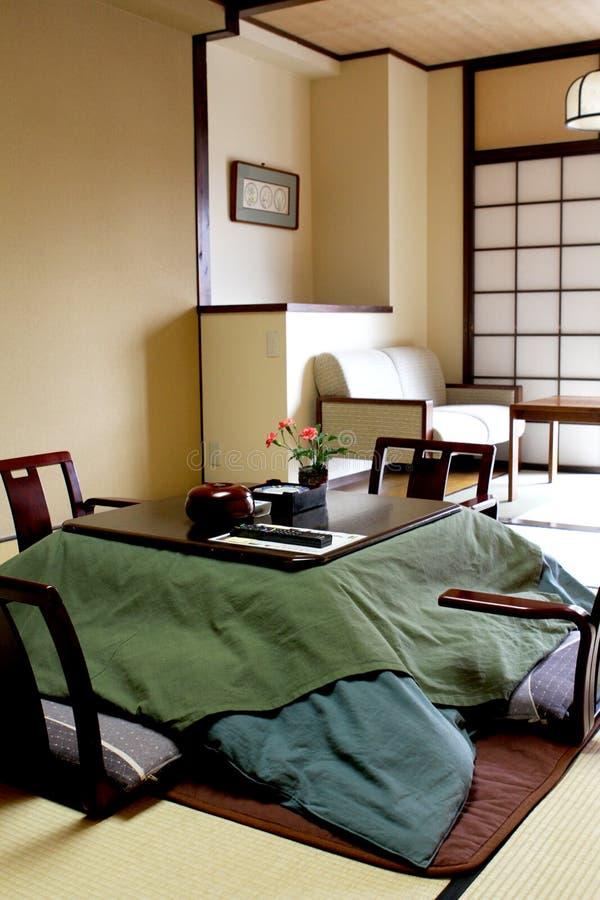 传统日本卧室 免版税库存图片