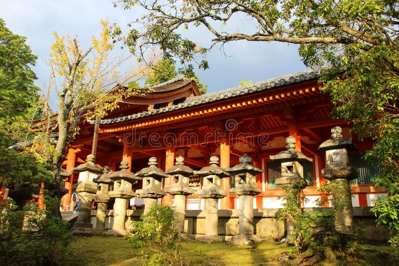 传统日本寺庙 免版税库存照片