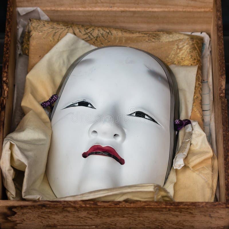 传统日本noh面具 免版税库存照片