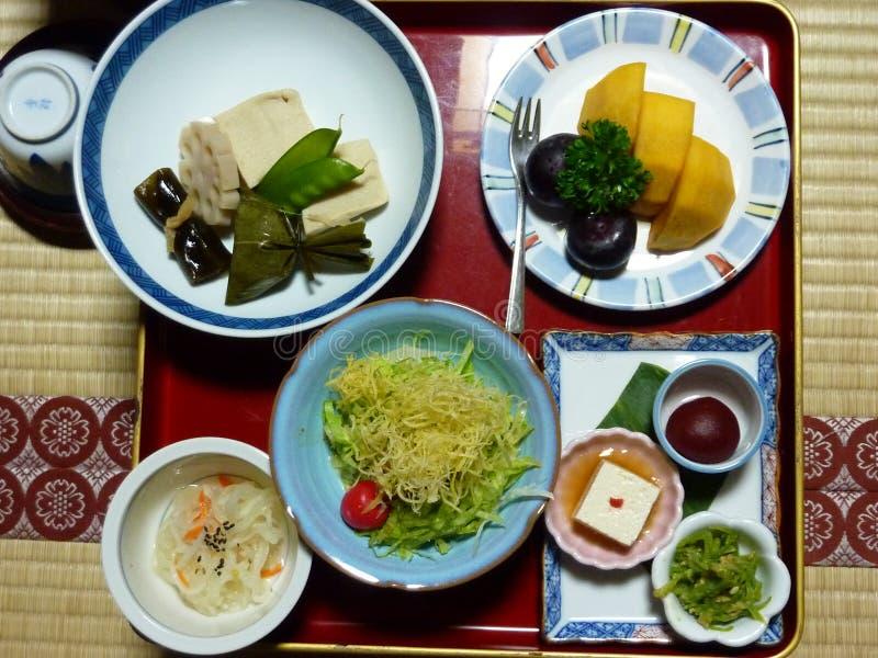 传统晚餐在日本 库存图片