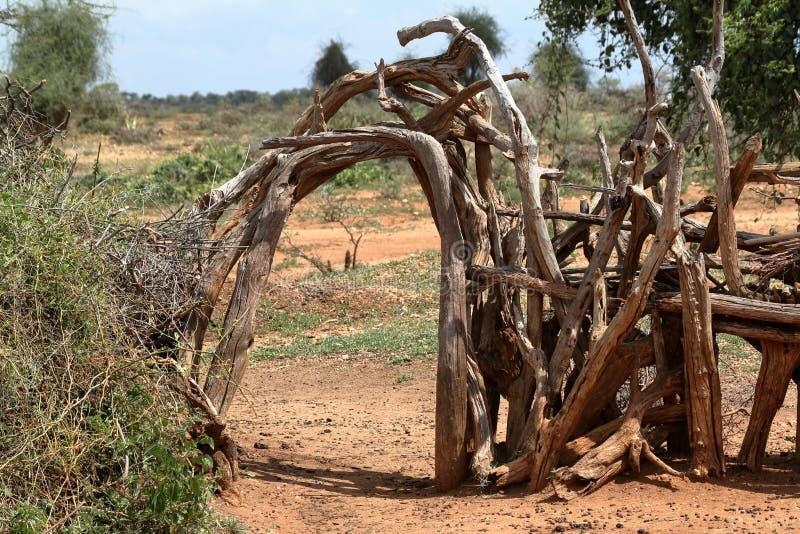 传统村庄在埃塞俄比亚 免版税库存照片