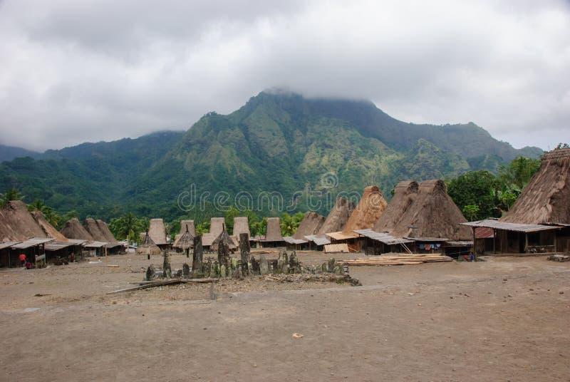 传统村庄Bena 免版税图库摄影