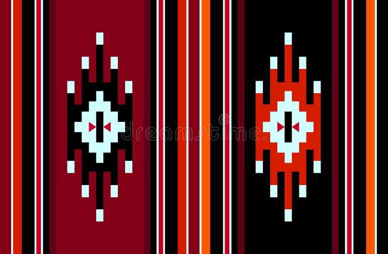 传统标志手工制造葡萄酒编织的地毯样式 皇族释放例证
