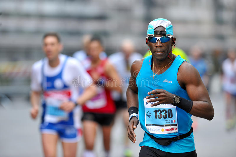 传统每年马拉松在佛罗伦萨 免版税库存照片