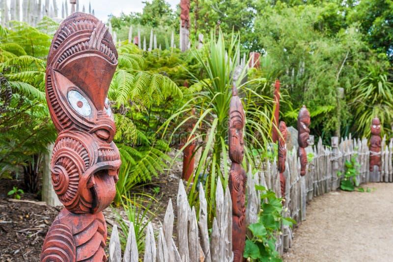 传统毛利人村庄 免版税库存图片