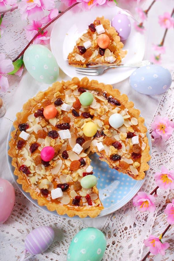 传统波兰复活节蛋糕mazurek 免版税库存图片