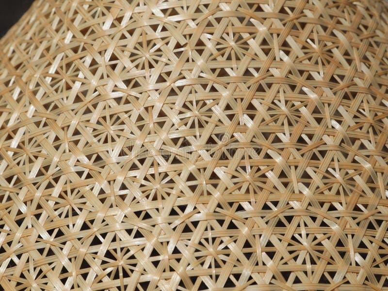 传统泰国编篮艺品-滤网食物盖子 库存照片