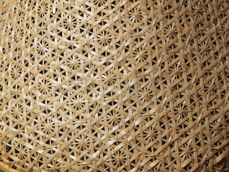 传统泰国编篮艺品-滤网食物盖子 免版税库存照片