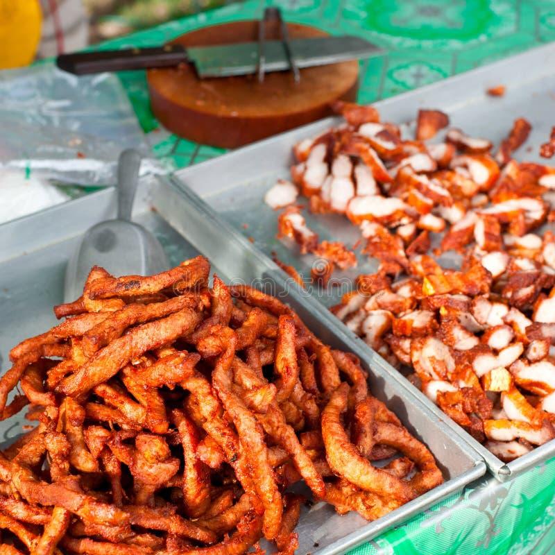 泰国食物。 烤辣猪肉 库存照片