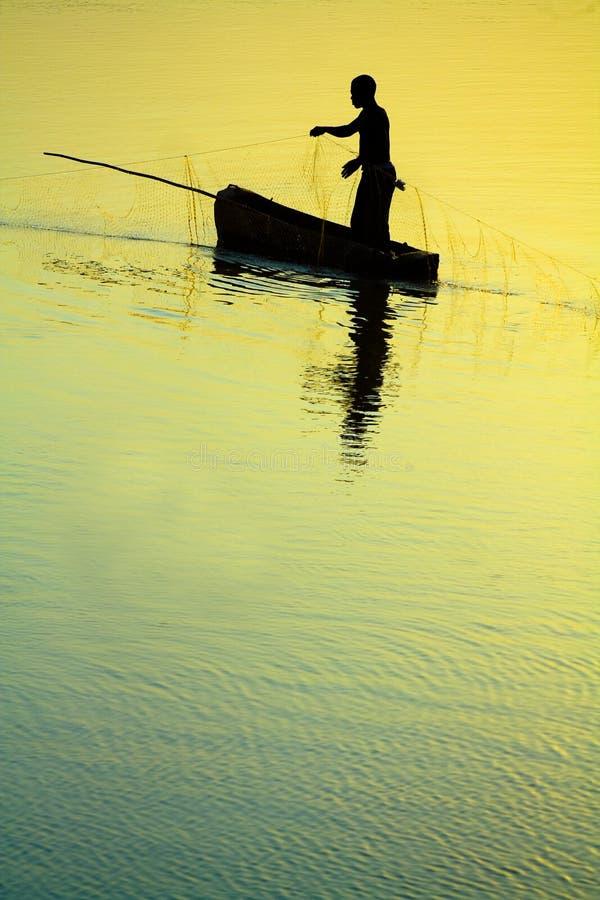 传统渔夫 免版税图库摄影