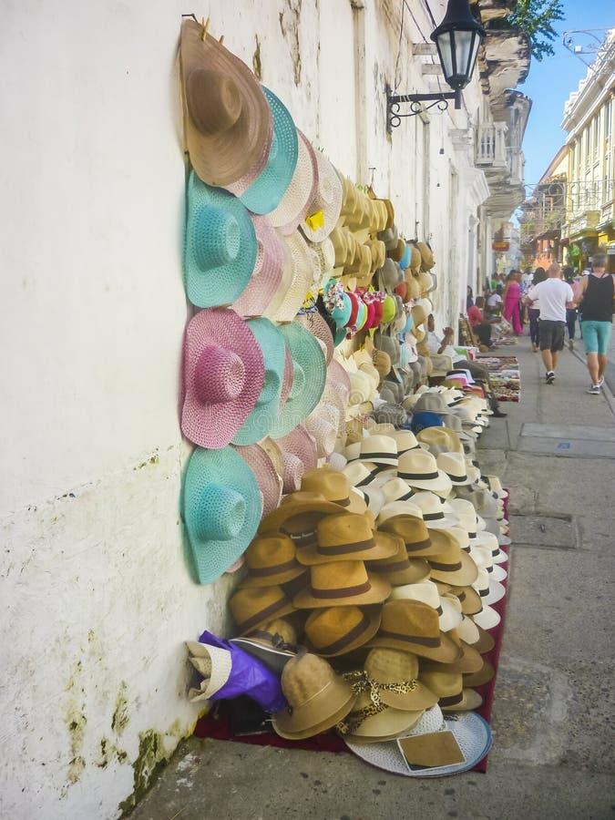 传统热带帽子街市 库存照片