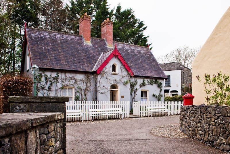 传统爱尔兰村庄 免版税库存照片