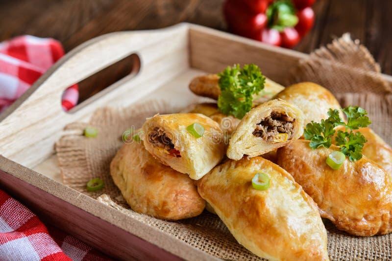 传统牛肉Empanadas 免版税库存照片