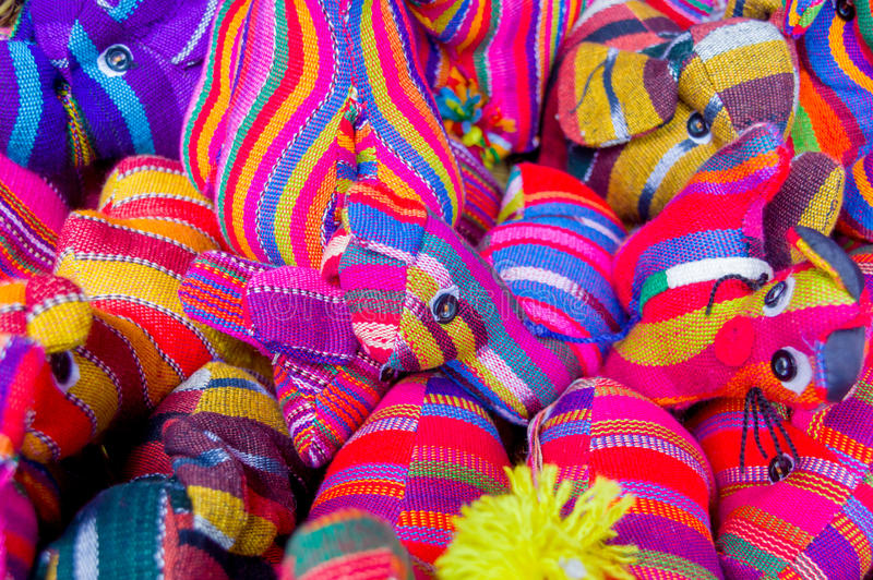 传统玛雅纺织品 免版税库存图片
