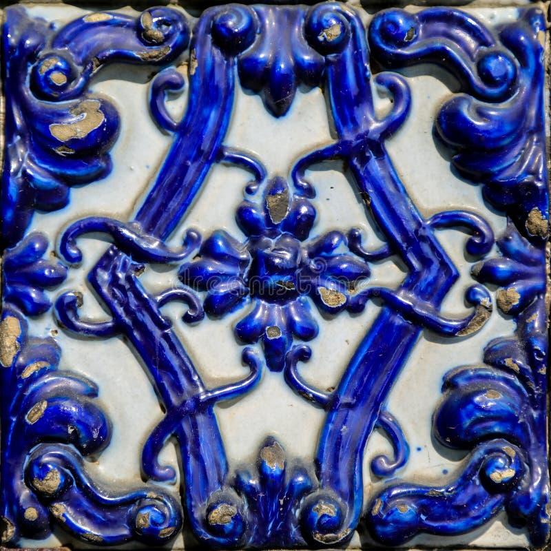 传统瓦片细节从巴伦西亚的 库存照片