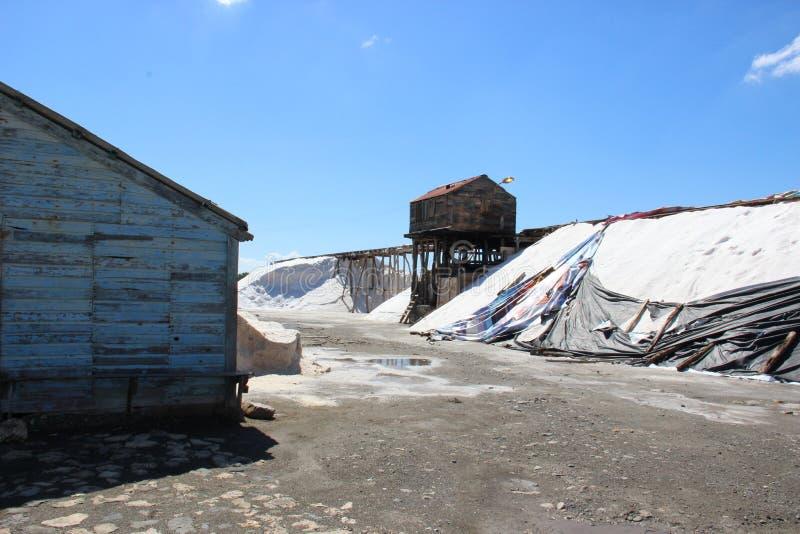 传统生产的盐 图库摄影