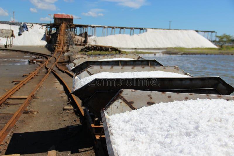 传统生产的盐 免版税库存照片