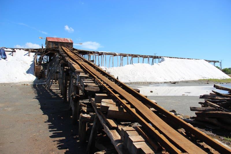 传统生产的盐 免版税库存图片