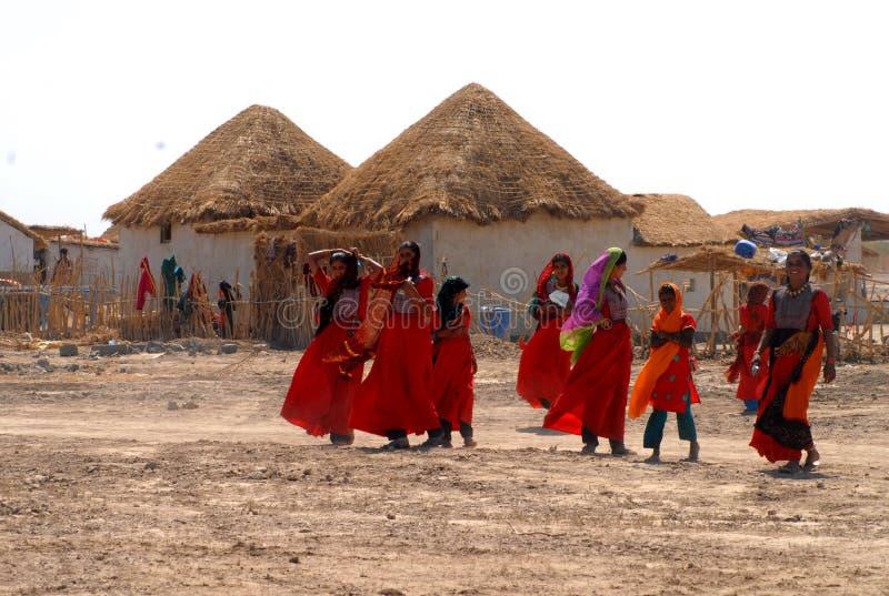 传统生活在村庄 免版税库存照片