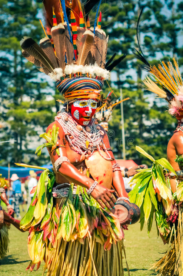 传统生活在巴布亚新几内亚 图库摄影
