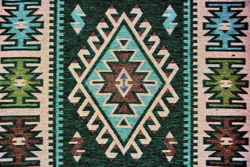 传统罗马尼亚的地毯 免版税库存照片