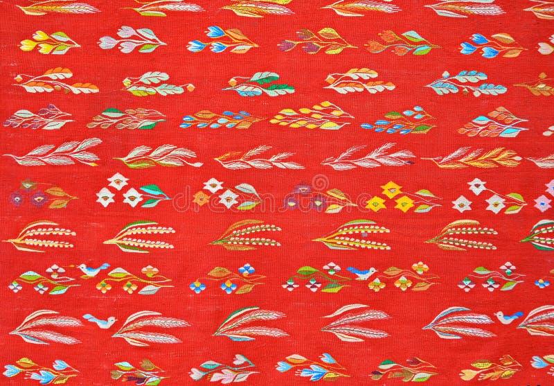 传统罗马尼亚的地毯 图库摄影
