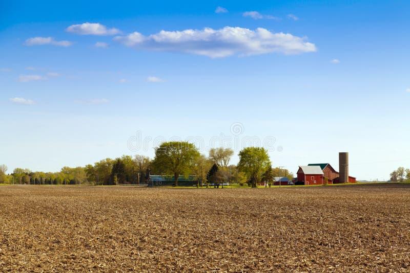 传统美国农场 免版税库存照片