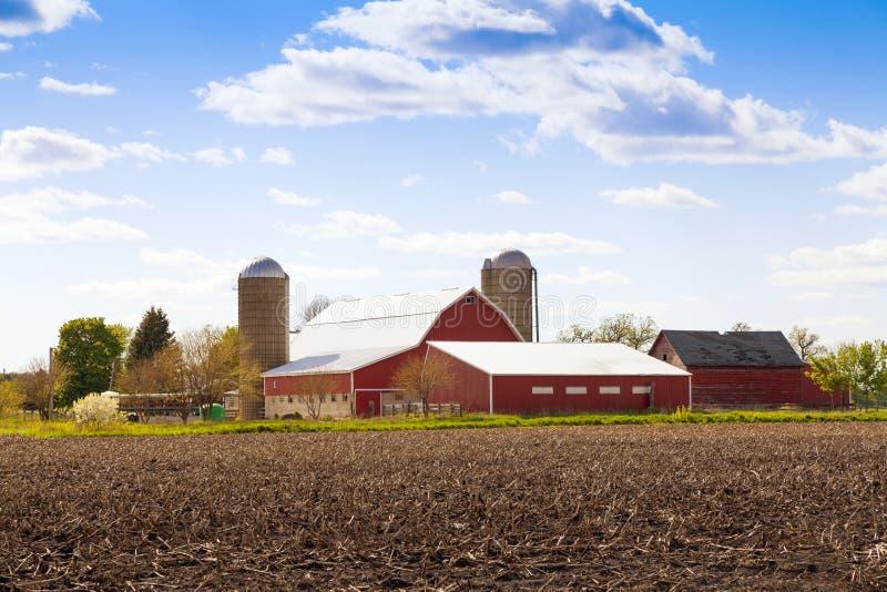 传统美国农场 免版税库存图片