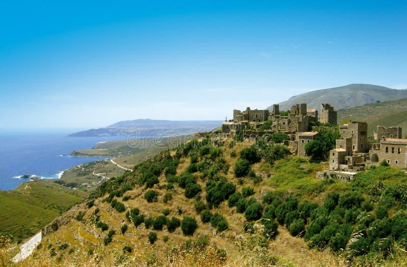 传统老村庄在希腊 免版税库存照片