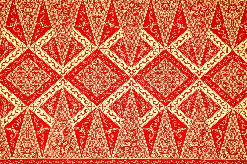 传统蜡染布布裙样式 免版税图库摄影