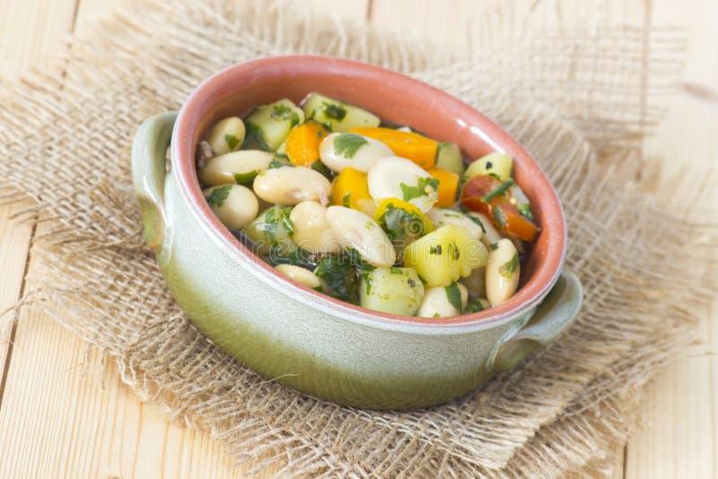 传统豆食物希腊的汤 库存照片