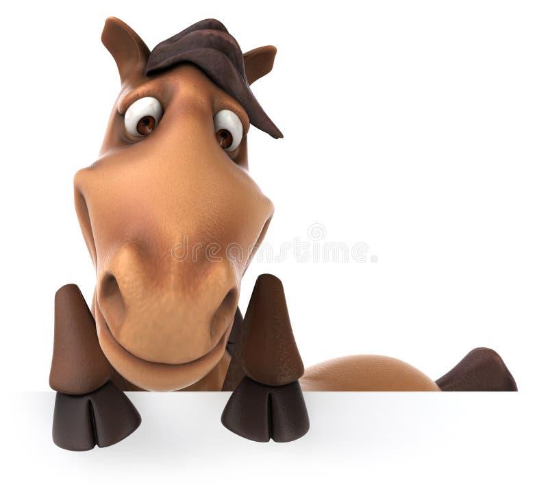传统转盘快乐的招待集市场所乐趣的马 向量例证