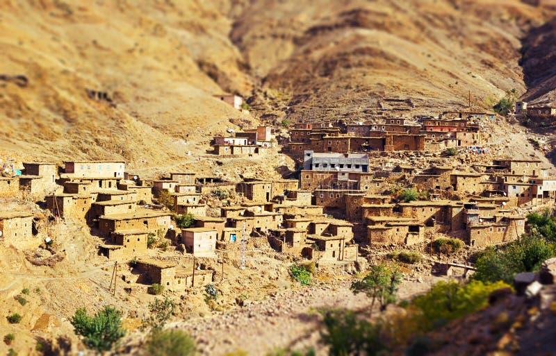 传统巴巴里人山村在摩洛哥 库存照片