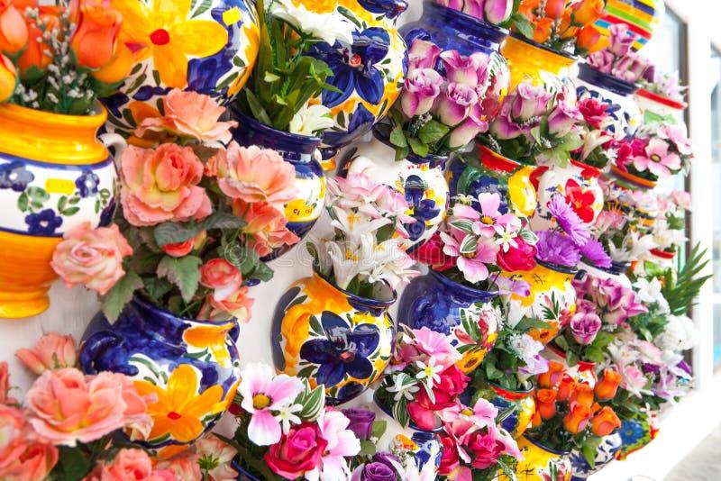 传统陶瓷商店在安大路西亚,西班牙 免版税库存照片