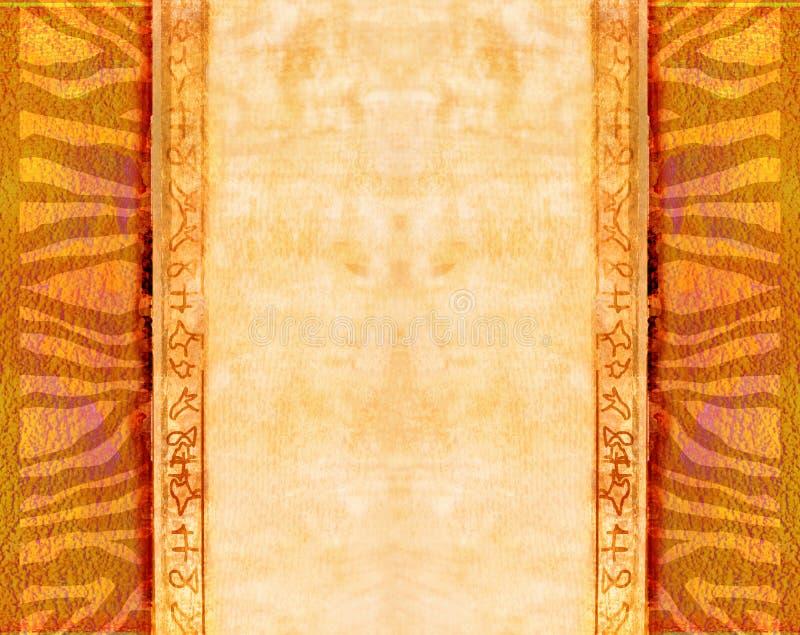 传统非洲的模式 皇族释放例证