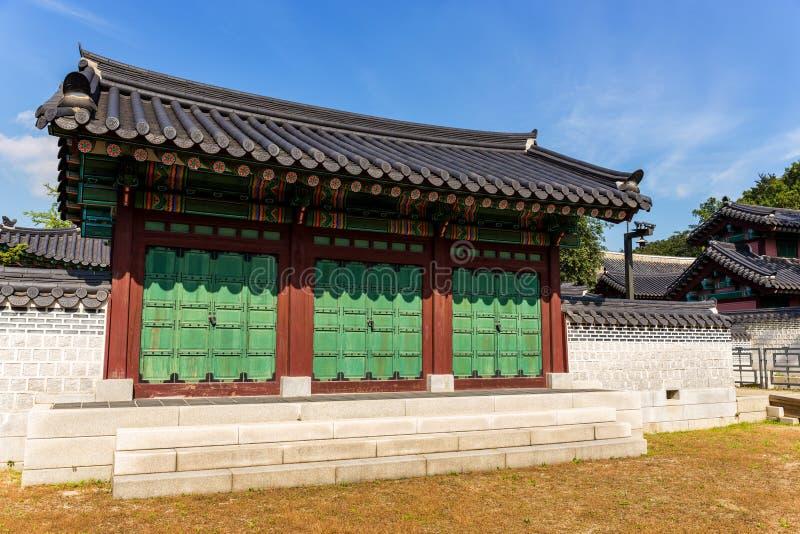 传统韩国大厦 图库摄影