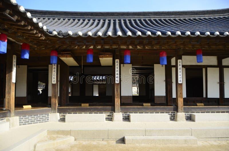 传统韩国都市风景 免版税库存图片