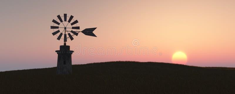 传统风车在马略卡,巴利阿里群岛 免版税库存图片
