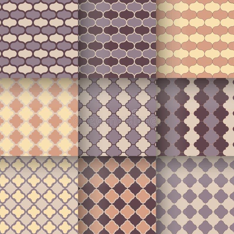 传统quatrefoil格子无缝的样式 向量例证