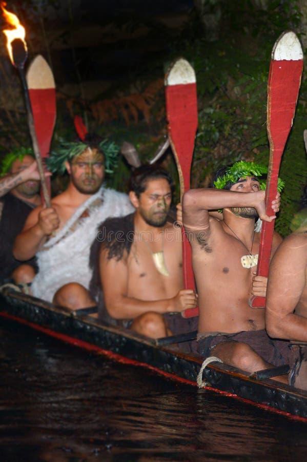 传统waka小船的毛利人人 免版税图库摄影