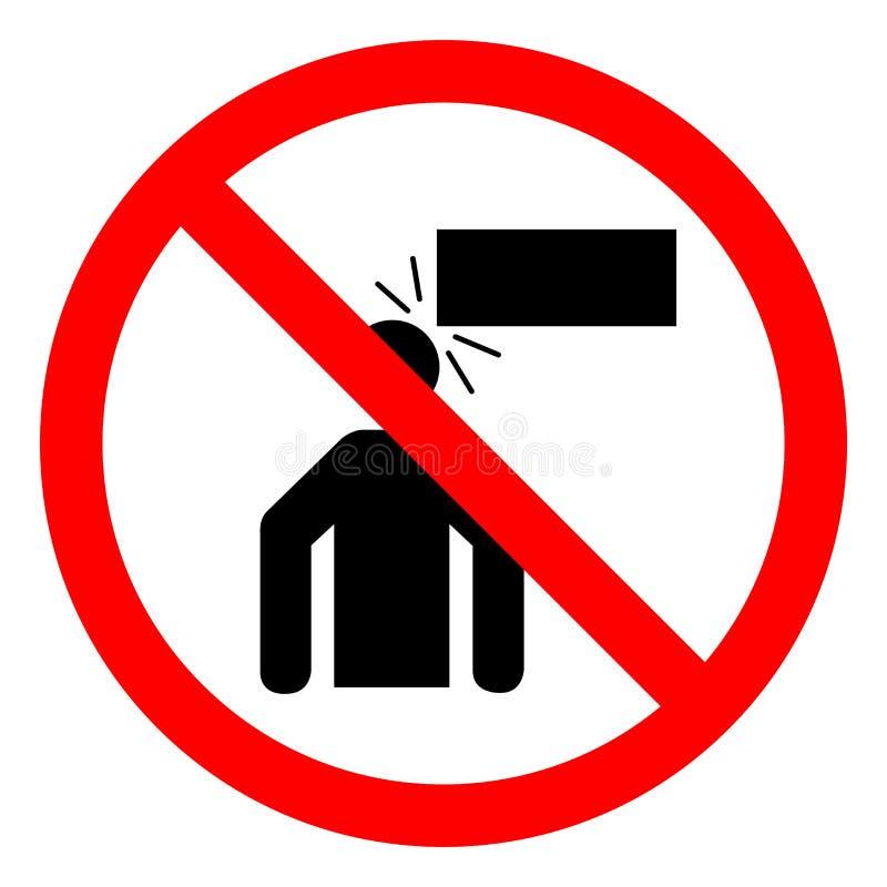 伤害危险低清除标志标志,传染媒介例证,在白色背景标签的孤立 EPS10 向量例证